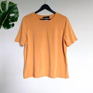 Jones New York plus orange short sleeve top 1X